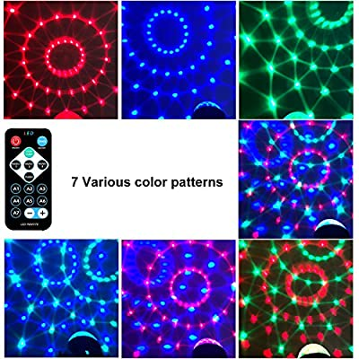 HYONE Party Strobe Light Sound Activated LED Disco Ball, Stage Light with 7 Color Modes, Fun for Dancing, Birthday, Party, Festival Holiday etc (with Remote)