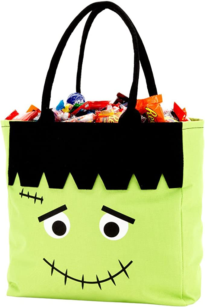 Item 1628JC Halloween Trick or Treat Bag  Personalized Candy Tote Bag  Pumpkin