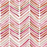 Carousel Designs Pink Painted Chevron Fabric by The Yard - Organic 100% Cotton