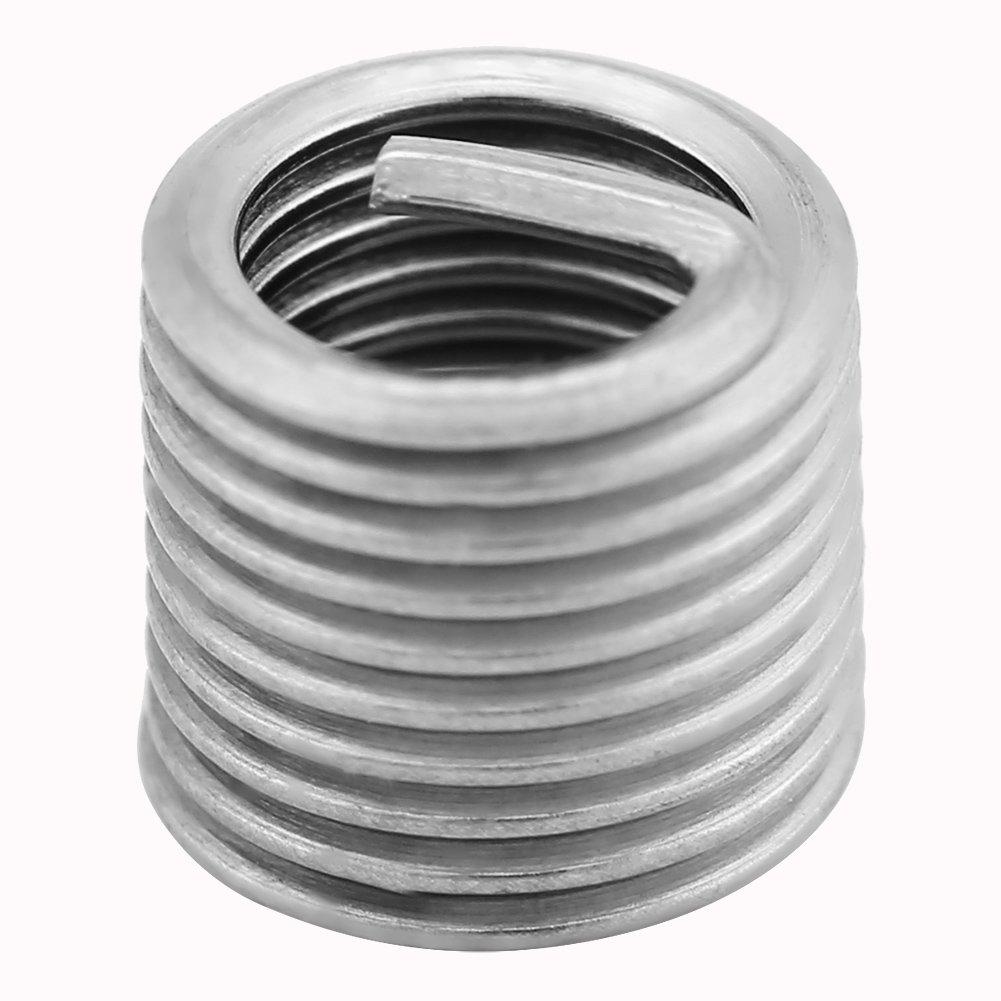 Wire Thread Inserts 100 Pcs 304 Stainless Steel Wire Screw Sleeve Thread Repair Insert Assortment Kit M5x0.8x2D