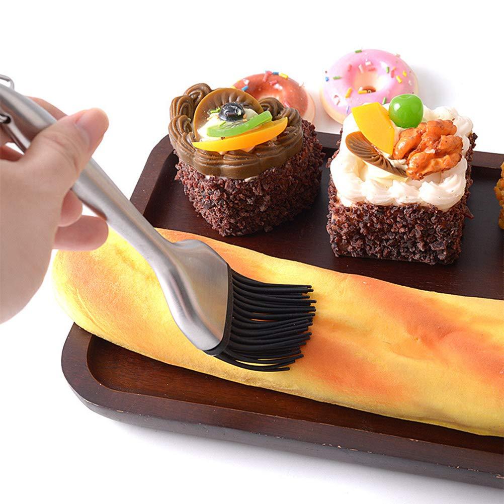 koowaa Lot de 2 pinceaux /à p/âtisserie en Silicone pour Barbecue et badigeonner avec poign/ée en Acier Inoxydable