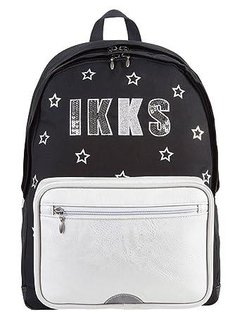 éclatant magasin Excellente qualité IKKS - Sac à Dos ref_ikks43904 Lucy Sky Black 33 * 52 * 25 ...