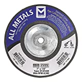 Mercer Industries 623680 Type 27 Pipe Cutting and Light Grinding Wheel for All Metals, Including SS, 7'' x 1/8'' x5/8''-11, 10 Pack