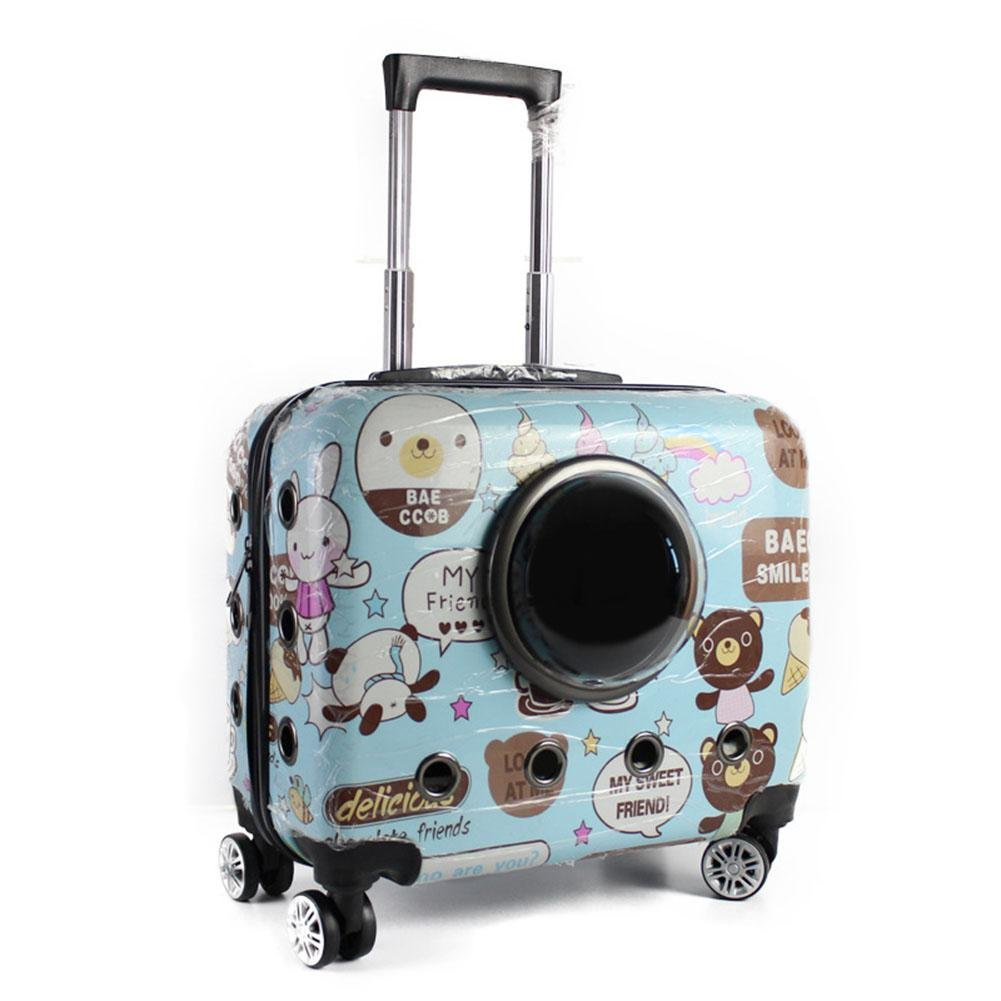 Zaino Pet Carrier Borsa Trolley 2 In 1 Borsa Da Trasporto Trasportino Per Cani