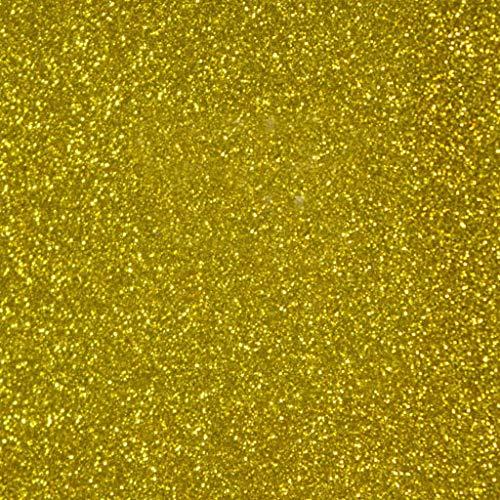 Siser Glitter HTV 20 x 12 Sheet - Iron on Heat Transfer Vinyl (Gold)