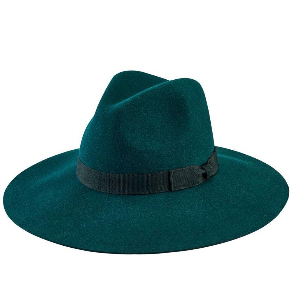 San Diego Hat Company Women's Bow Floppy Fedora Hat, Green, One Size