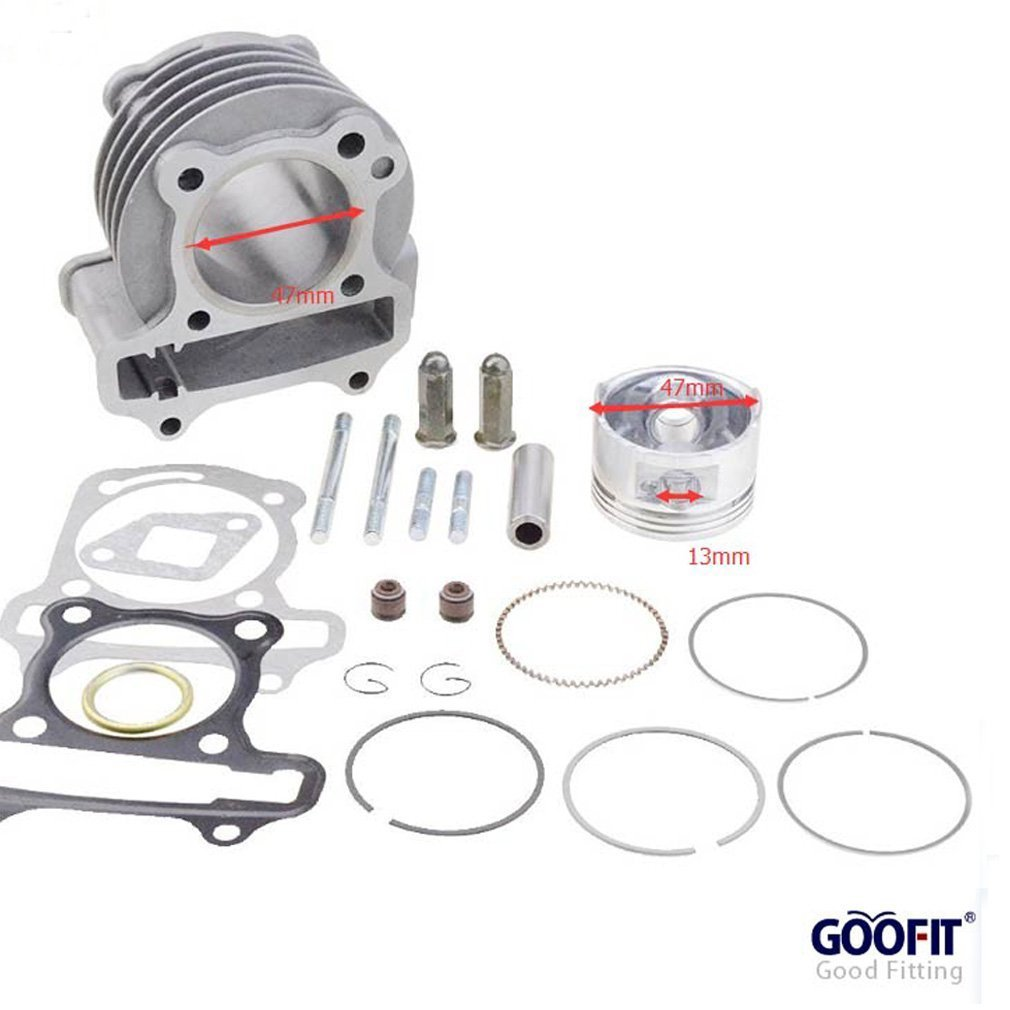GOOFIT Performance Big Bore Cylinder Kit GY6 80cc 47mm for 139QMB ATV Scooter Moped Go Kart Group-11-B
