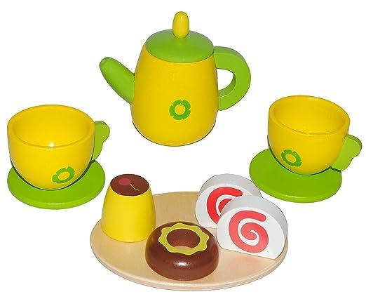 Teeservice f/ür Kinder aus Holz 48831 Howa Kaffeeservice
