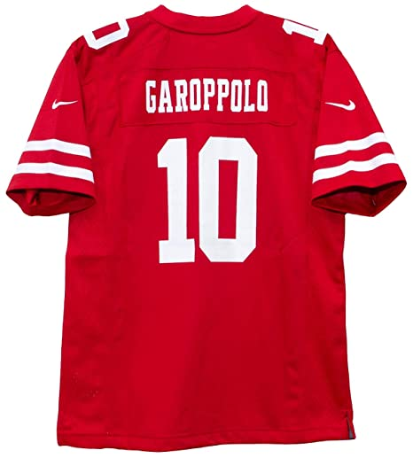 f4de9d5e624 Nike Jimmy Garoppolo San Francisco 49ers Team Color Youth Game Jersey (Youth  Small 8)