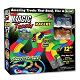 Toys : Ontel Magic Tracks Racer Set with 2 LED Race Car Flexible, Bendable Glow in the Dark Racetrack, Multi, 12'