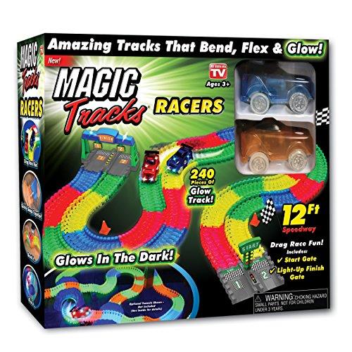 - Ontel Magic Tracks Racer Set Race Car Set, Multi
