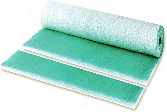 Filtro aire verde pintura PAINT STOP horno y cabina 1x20m fiber ...
