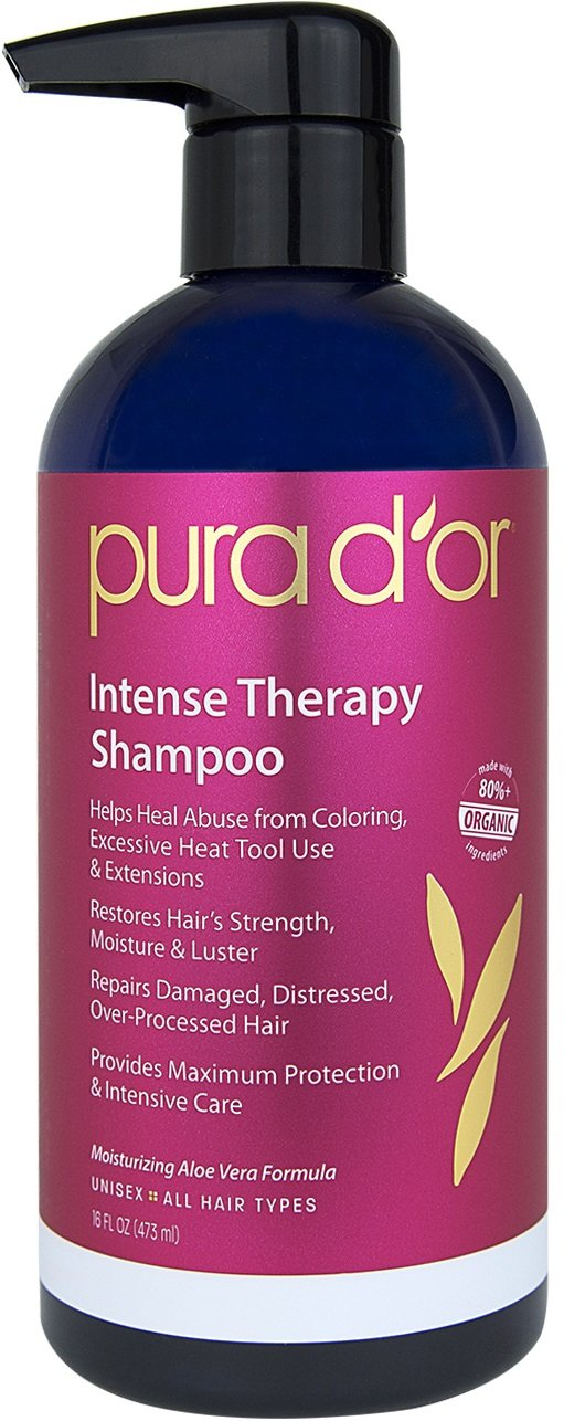 PURA D'OR Intense Therapy Shampoo, 16 Fluid Ounce PURA D' OR