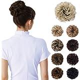 Messy Bun Hair Piece, HOOJIH Tousled Updo Hair Extensions Hair Bun Curly Wavy Ponytail Hair Piece Hair Scrunchies with…