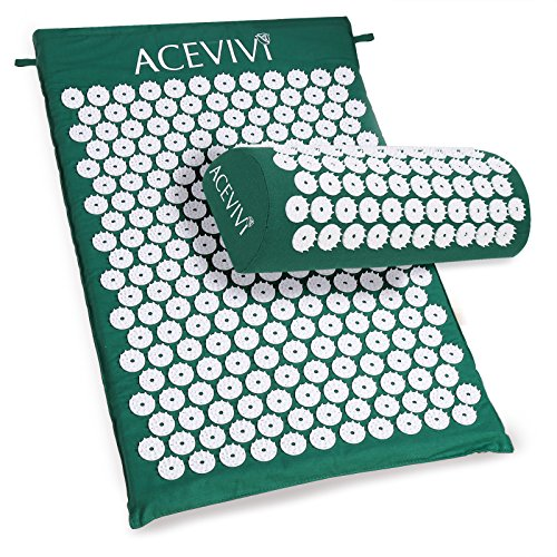 Price comparison product image New Body Head Foot Massager Cushion Acupressure Mat Relieve Stress Pain Acupuncture Spike Yoga Mat With Pillow