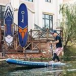 Kit-Tavola-da-Surf-SUP-365-Centimetri-Lungo-for-Adulti-Circolare-Gonfiabile-Standing-Bordo-di-Pala-Principianti-e-intermedi-Godetevi-Water-Fun-Gonfia-Rapidamente-e-Facilmente
