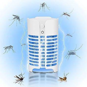 Lámpara asesina de mosquitos, asesino electrónico de insectos, asesino de mosquitos controlado por luz trampa de mosquitos sin radiación física para jardín interior en casa Patio trasero de jardín: Amazon.es: Electrónica