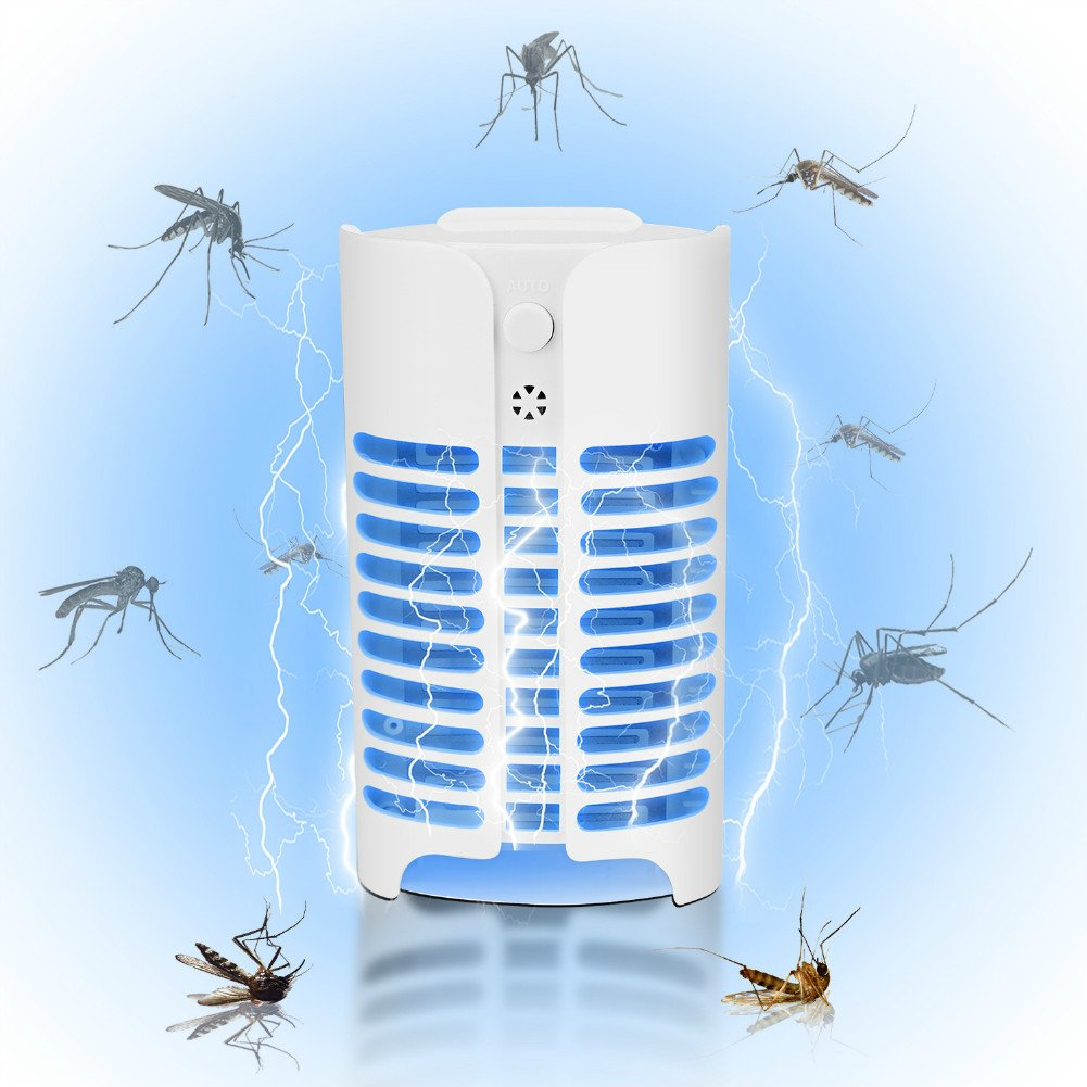 Sel-More Mosquito Killer Lamp,Electronic Insect Killer,Fly killer, Light-controlled Inhalation Type Mosquito Killer, Physical Radiation-free Mosquito Trap for Home Indoor Garden Patio Backyard