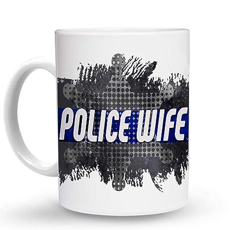 Amazon.com: Makoroni - POLICE WIFE Police Cop Cops - 11 Oz ...