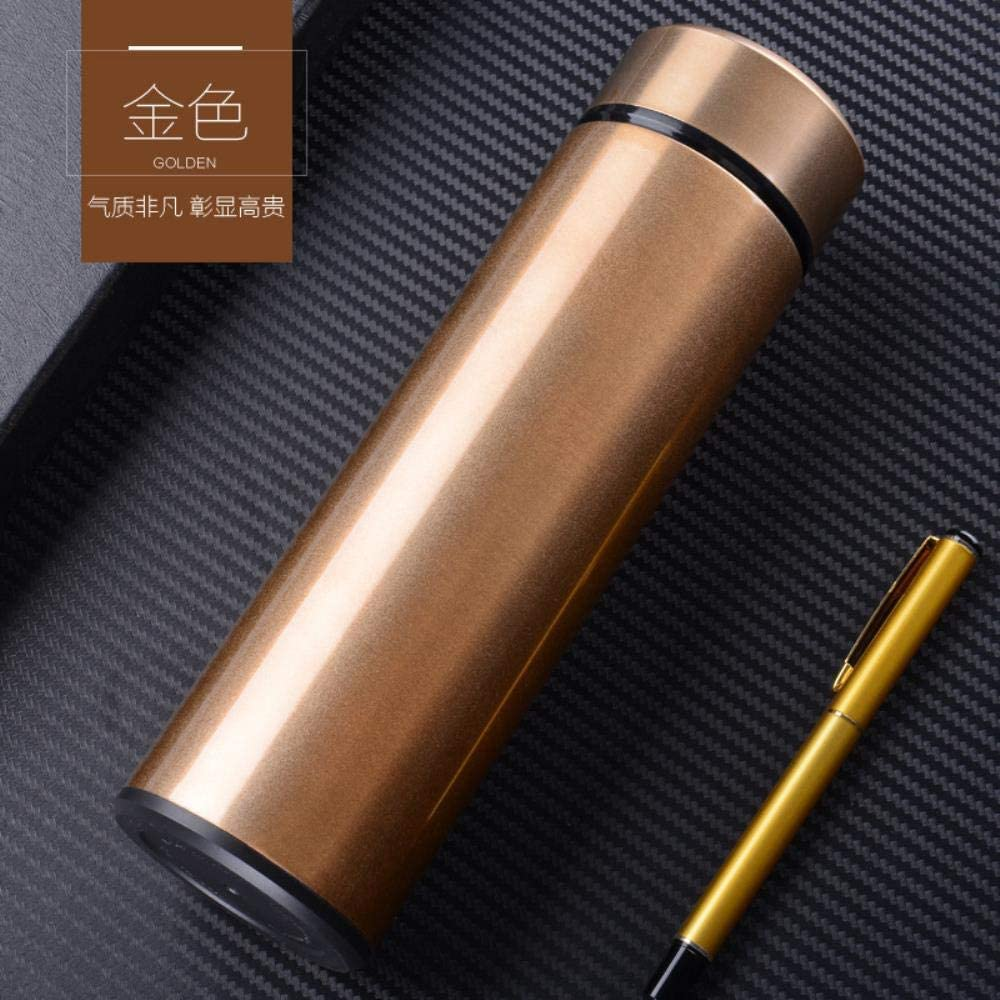Sincn Nuevo Coche de Moda de vacío de Acero Inoxidable 304 Frasco de vacío Regalo publicitario Personalizado Taza de Agua impresión Logo Letras -500ml, Oro