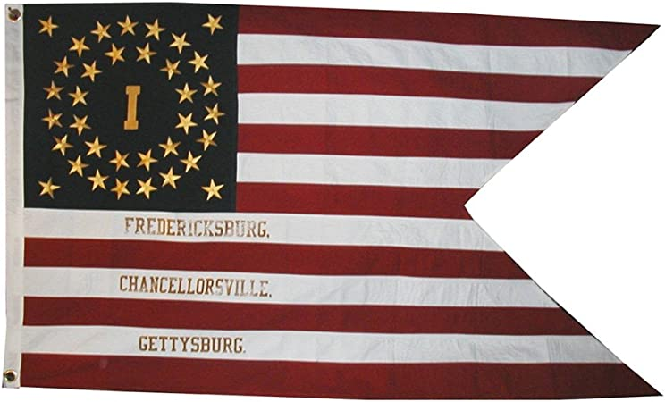 34 star American Civil War Flag...20th Maine Infantry Flag