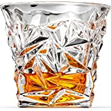 Diamond-Cut Whiskey Glasses, Scotch Glasses By Ashcroft Glass - Set Of 2.