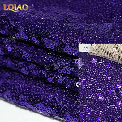 LQIAO Glitter 18PCS 14x108in-Sequin Table Runner-Sparkly Wedding Party Dining Kitchen Table Linens DIY, Purple by LQIAO