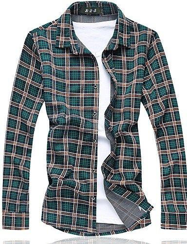 Uomo Camicia Manica Lunga a Quadri Uomo Camicia Shirt in taglie forti 3xl 4xl 5xl 6xl 7xl