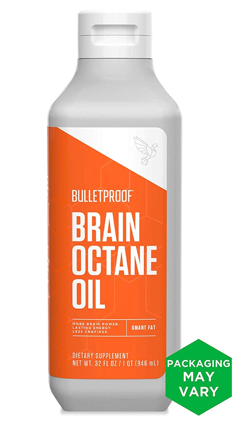 Bulletproof Brain Octane MCT Oil, Perfect for Keto and Paleo Diet, 100% Non-GMO Premium C8 Oil, Ketogenic Friendly, Responsibly Sourced from Coconuts Only, Made in The USA, 32 Fl. Oz by Bulletproof
