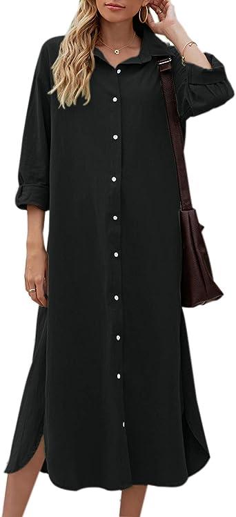 Shirt Dress Kimono Dress Avangarde Shirt Woman Stylish Shirt Black Dress 100/% Cotton Dress Long Shirt Loose Dress Maxi Dress