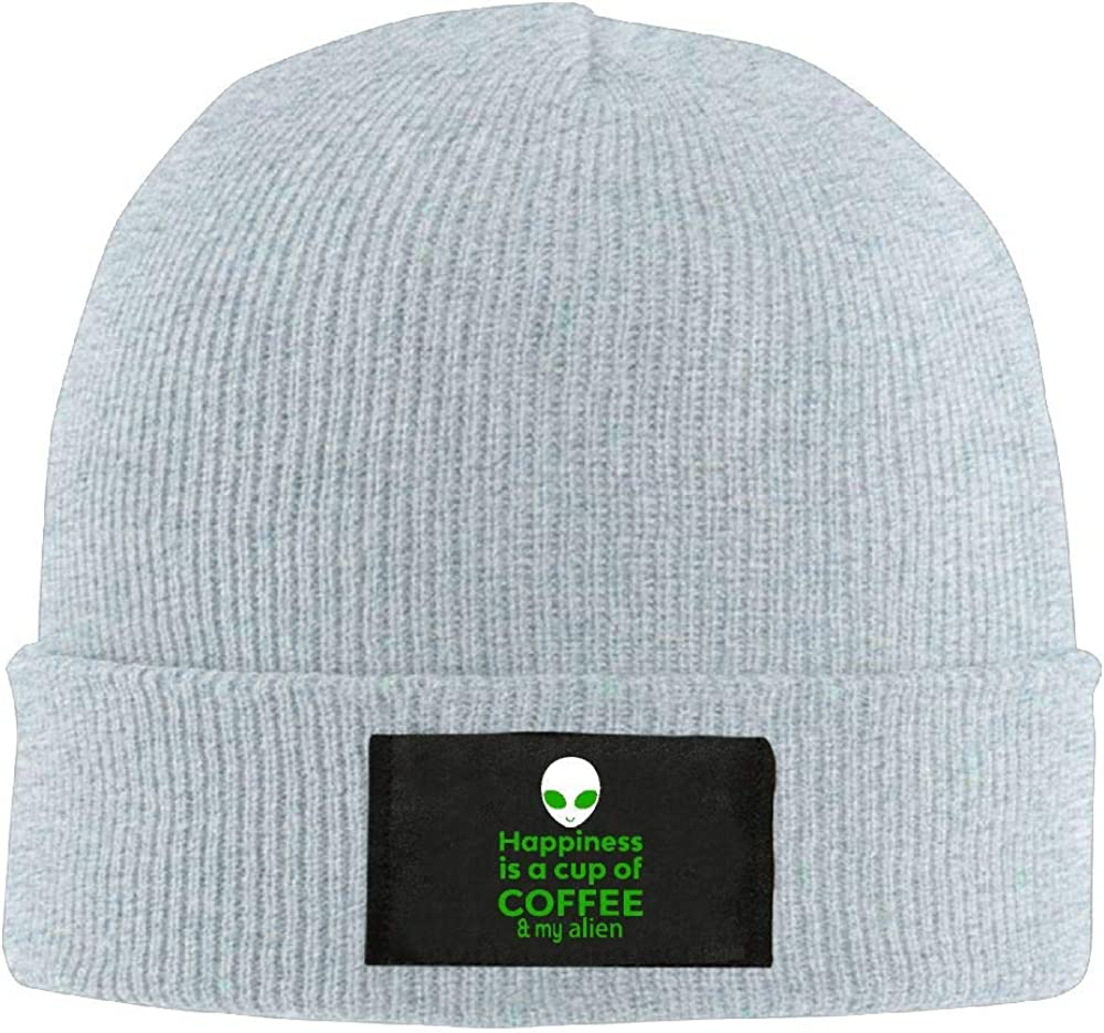 DLOAHJZH-Q Adult Unisex Happiness Coffee Alien Street Style Knitted Hat