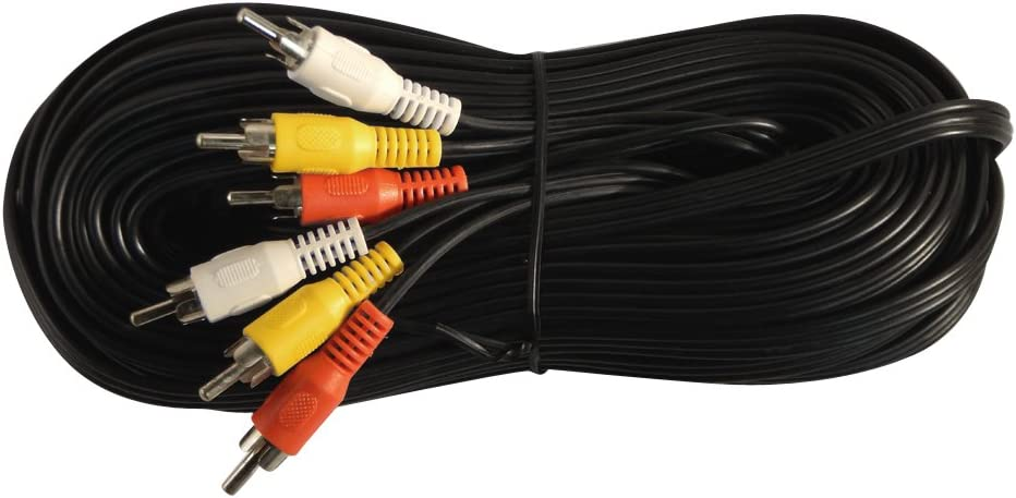 Your Cable Store 12 Foot RCA Audio//Video Cable 3 Male to 3 Male