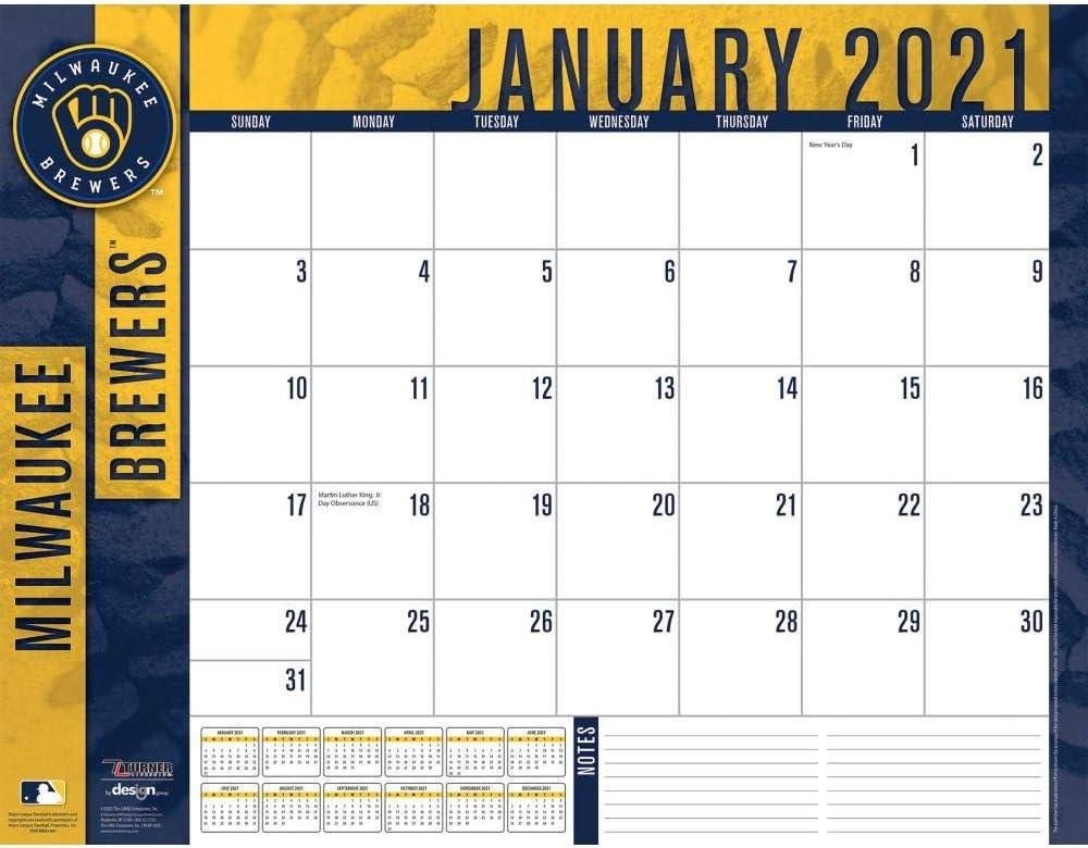 TURNER Sports Milwaukee Brewers 2021 22X17 Desk Calendar (21998061511)