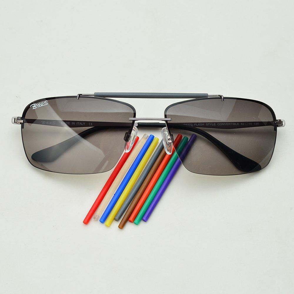 d3c87c288d9 Amazon.com  Bnus Men s Outdoor Sport Casual DIY Sunglasses Titanium 3 style  Interchangeable Lenses (Gunmetal