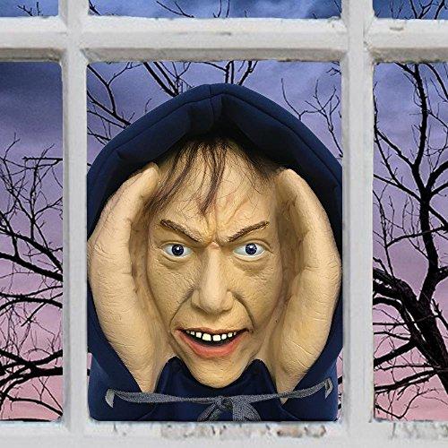 Scary Peeper Creeper Peeping Tom Halloween Window Decoration Looks -