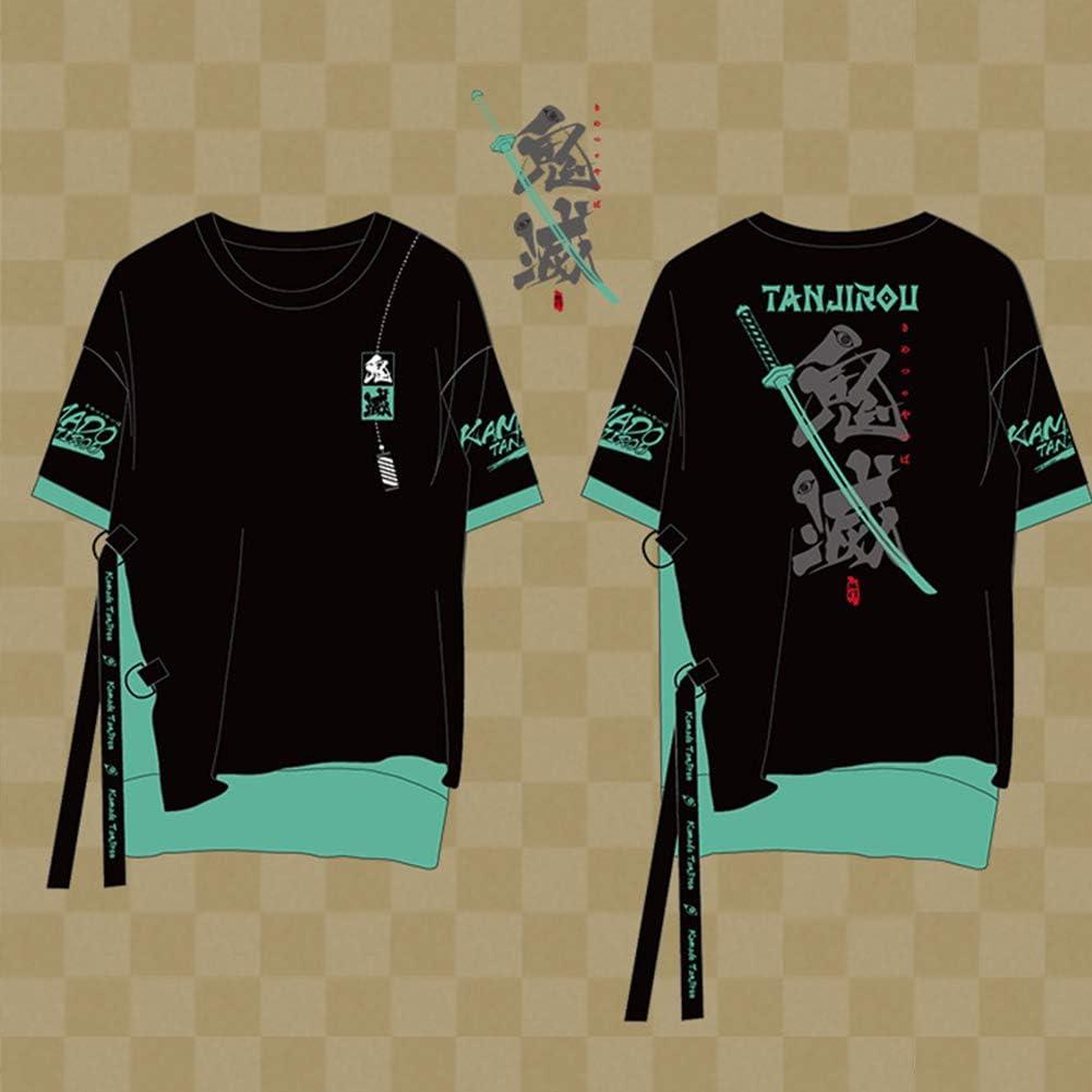 鬼滅の刃(きめつのやいば) 竈門 炭治郎(かまどたんじろう) 印象Tシャツ コスプレ衣装