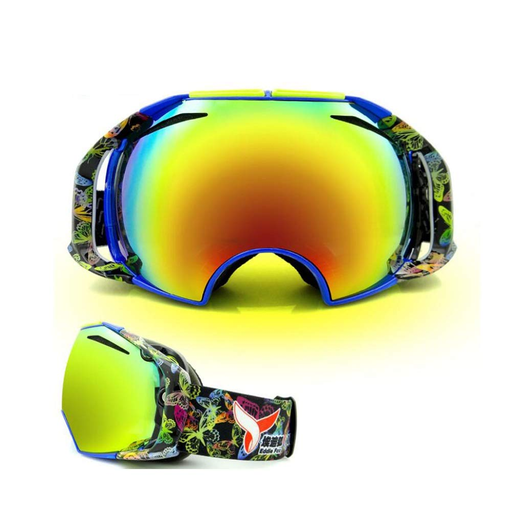 He-yanjing Ski Goggles for Men and Women,Anti-Fog Jet Snow Skiing Skis Goggles,Climbing Mirror,Jumper Mirror,Free Mirror,Fashion Outdoor Hiking ski Goggles (Color : E) by He-yanjing