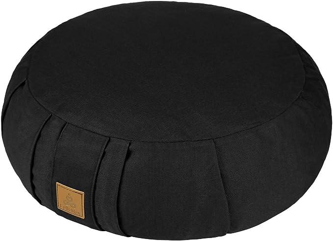 Meditation Cushi Zabuton Yoga Bolster FelizMax Crescent Zafu Meditation Pillow