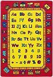 Children's 5' X 7' Area Rug Kids Carpet Non Skid Gel Backing (ABC Fun)