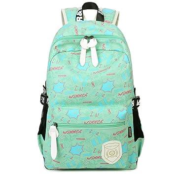 27fd12ba6043 Uniui Fashion Canvas Backpack for School Teenage Girls Boys Unisex Large  Capacity Alphabet Printed Laptop Rucksack