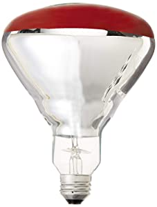 GE Lighting 37771 R40 Heat Lamp, Red, 250-Watt
