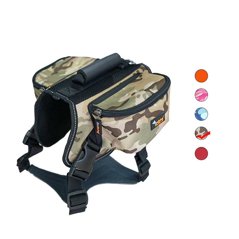 Dog Carrier Backpack Airline Approved High-Capacity Lightweight Shoulder Bag Hound Camping Travel Outdoor Hiking Pack Portable Adjustable Reflective Webbing Carriers for Large Medium Small Saddle Dog