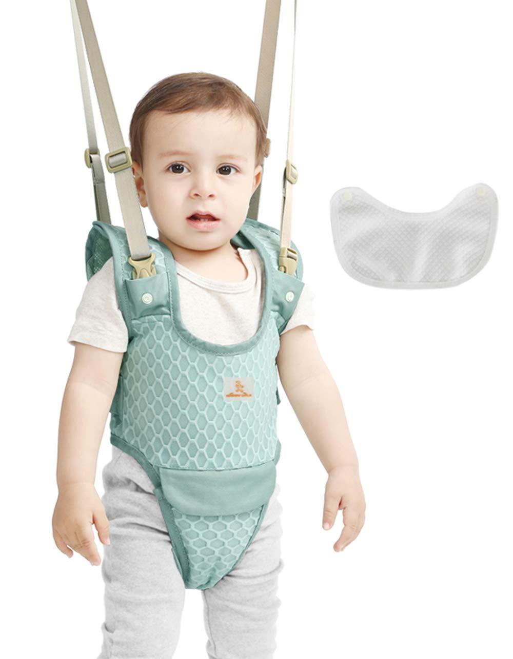 Bibs Set Blue Baby Detachable Walking Harness Adjustable Walk Learning Protective Belt