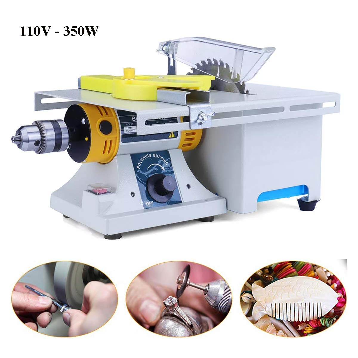 Terrific Upgraded Jewelry Polishing Machine Rock Polisher Bench Buffer Tutu Home Bench Polisher Grinder Mini Table Saw Kit For Gem Metal Woodworking With Dailytribune Chair Design For Home Dailytribuneorg