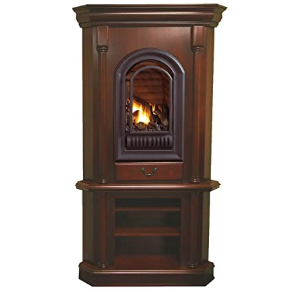 Amazon Com Hearth Sense Natural Gas Tower Corner Fireplace 20 000