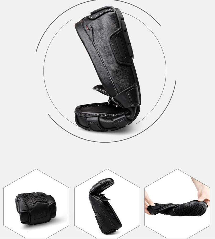 Herrenschuhe Feder- Feder- Feder- Herbstleder und Slip-Ons Lazy Schuhe Soft Sole Comfort Driving schuhe Walking Gym Schuhe Radschuhe,schwarz,36 3332b4