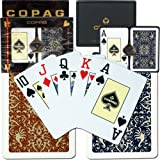 Copag Bridge Size Jumbo Index - Gold Line Script Setup Playing Cards (Multi)