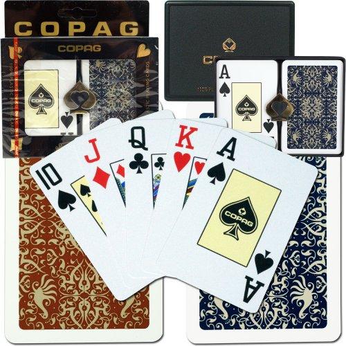 Copag Green (Copag Bridge Size Jumbo Index - Gold Line Script Setup Playing Cards (Multi))