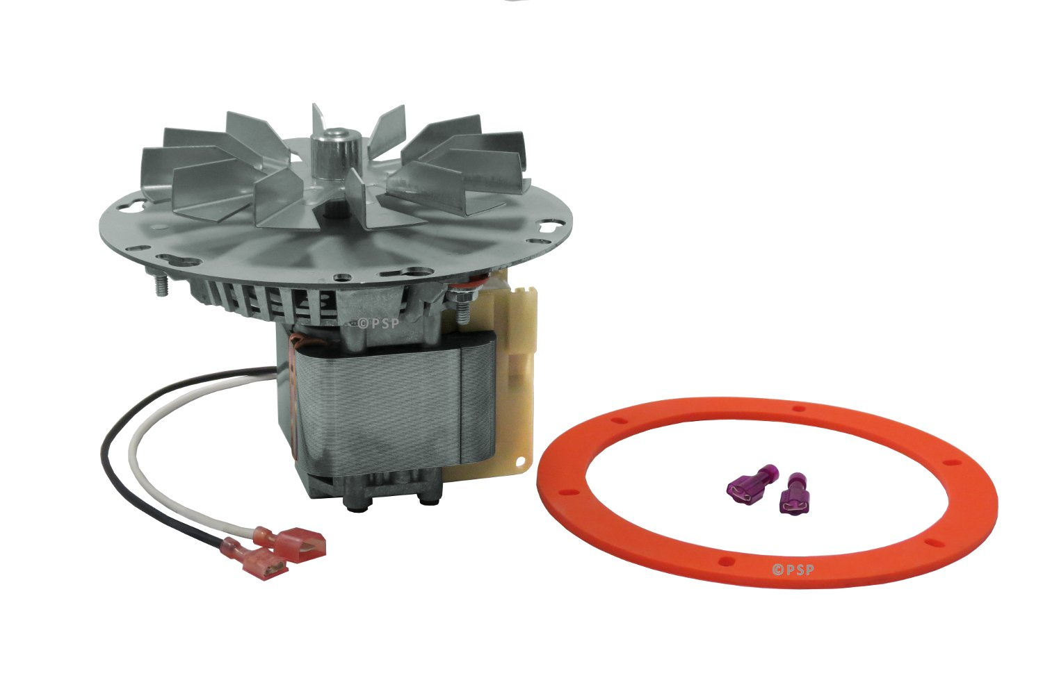Breckwell, Enviro, Vista-Flame, Pellet Stove Exhaust Combustion Blower Motor Assembly 6'' Mounting Hub # A-E-027, EF-161A