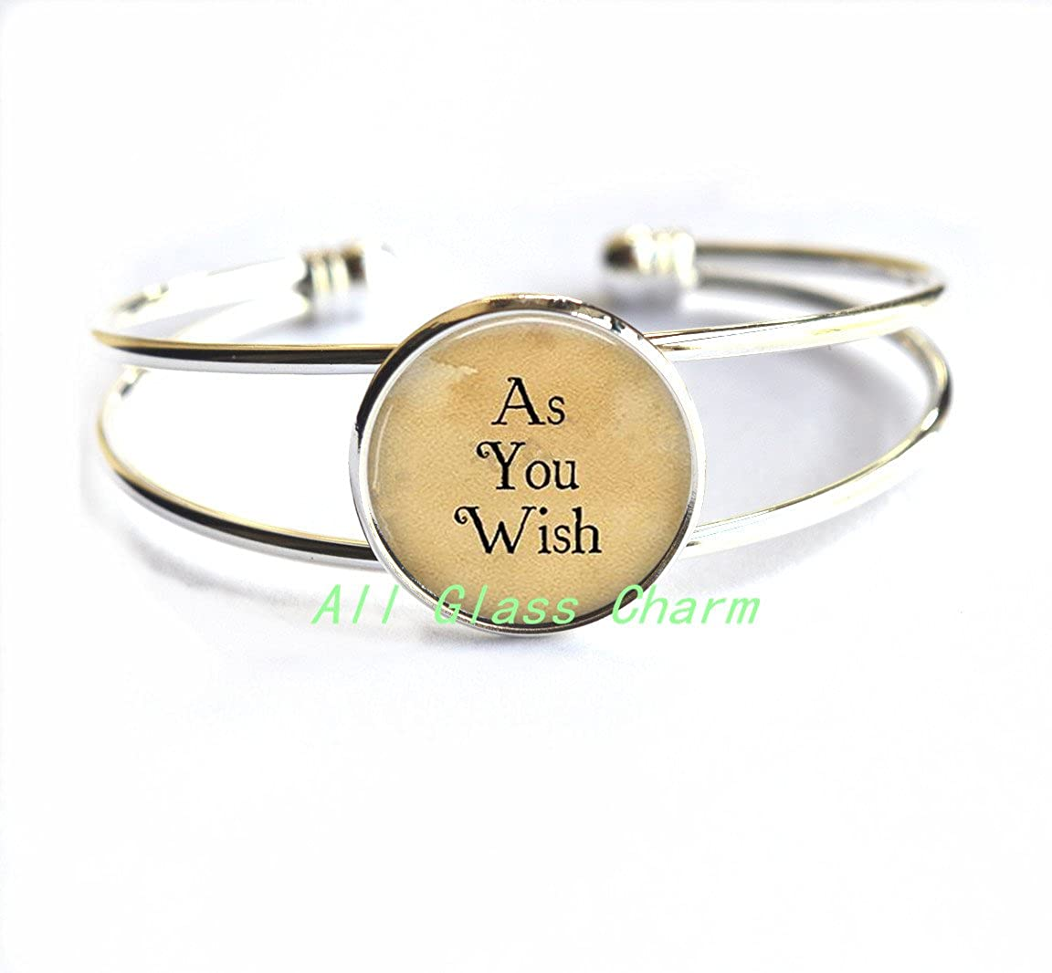 At Your Service Bracelet Charming Bracelet,As You Wish Bracelet Bracelets As You Wish Jewelry Literary Quote Jewelry,AS083 Service and Duty